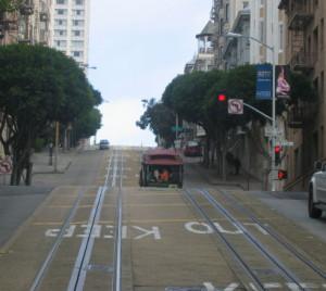 San Francisco rue et cable car