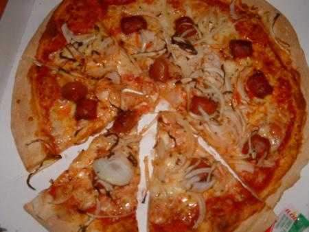 Dour - Pizza Merguez chez Pizza Sprint