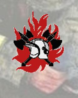 Dour, pompiers, logo