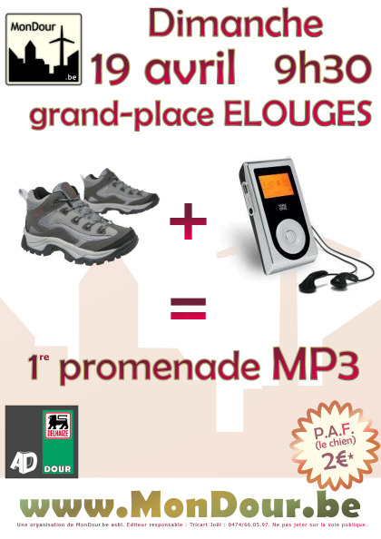 19 avril 2009 sur la grand-place d'Elouges : 1re promenade mp3